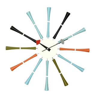 Hans Andersen Home Multicolor Spindle Clock