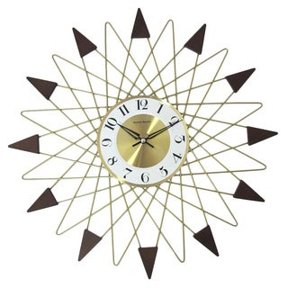 Hans Andersen Home Gold Banker Wall Clock