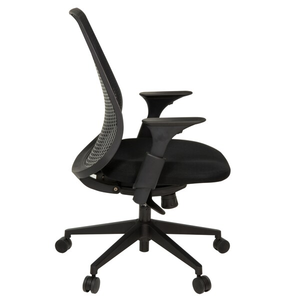 Lizze Executive Rubber Mesh Swivel Chair - Black
