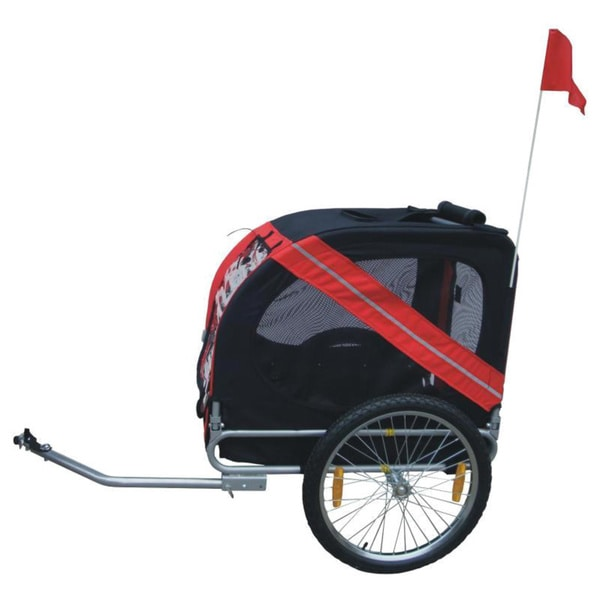 Comfy Folding Pet Bike Trailer with Bike Hitch