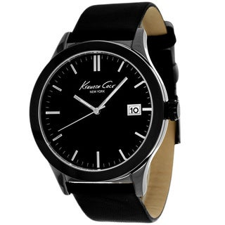 Kenneth Cole Men's KC1854 New York Black Leather Watch