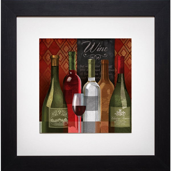 The Wine List I' by Conrad Kutsen Framed Art Print