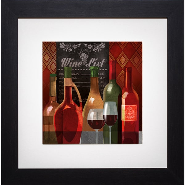 The Wine List II' by Conrad Kutsen Framed Art Print