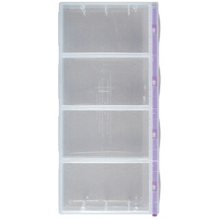 "Craft Mates Lockables 2XL Organizer 4 Compartments-9""X4.25""X1.25"""