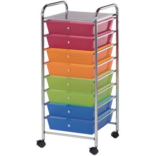 Blue Hills Studio Storage Cart W/8 Drawers-Multicolor