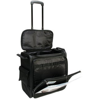"""GOGO 200 Crafter Rolling Tote-15.75""""X16.75""""X8.75"""" Black"""