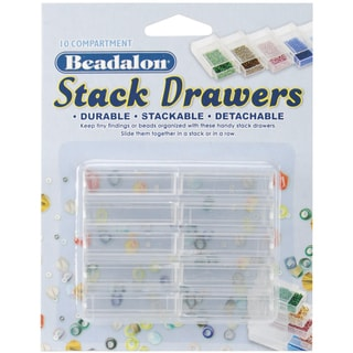 "Stack Drawers 1.75""X1""X.5"" 10/Pkg-Clear"
