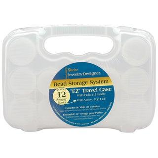 "Travel Case Bead Storage System 5.4""X8""X1.82""-Clear"