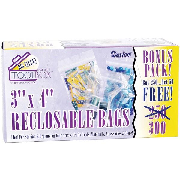 Reclosable Plastic Bags 300/Pkg