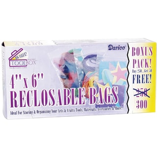 Reclosable Plastic Bags 300/Pkg