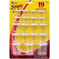 Simply Art Storage Cups Assorted Sizes 19/Pkg-Clear
