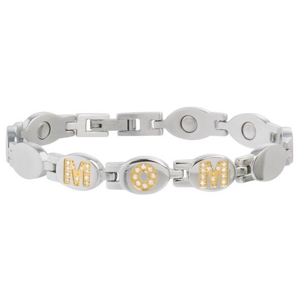 Sabona MOM Gold Gem Magnetic Bracelet