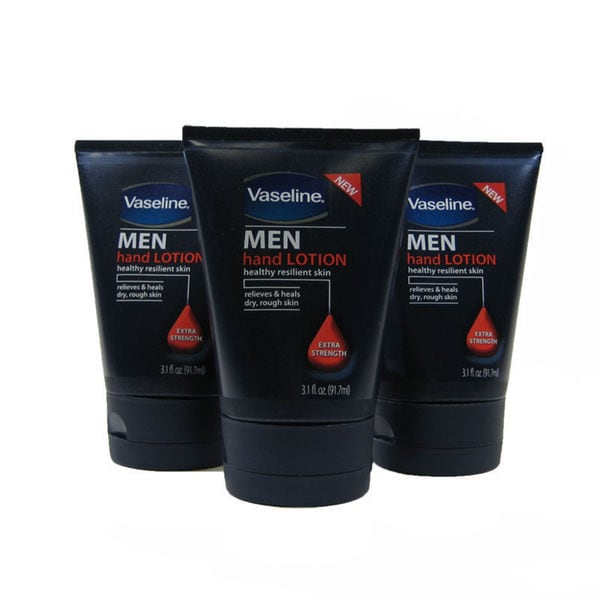 Vaseline Men 3.1-ounce Hand Lotion (Pack of 3)