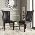 Sonata Black-Brown Faux Leather Dining Chairs (Set of 2)
