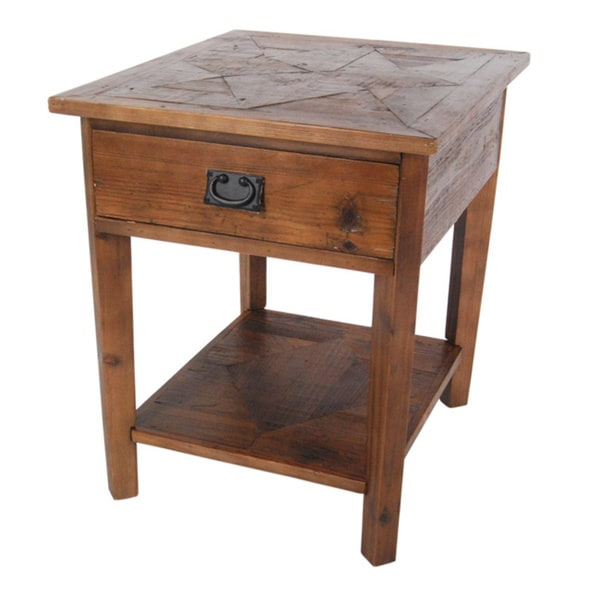 alaterre heritage reclaimed wood end table 16176805