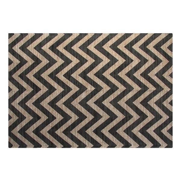 Grey Chevron Area Rug (5'x7')