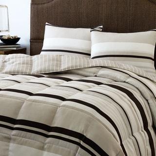 Eddie Bauer Redmond Stripe Down Alternative Reversible 3-piece Comforter Set