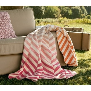 Sorrento Pastel Chevron Jacquard Throw