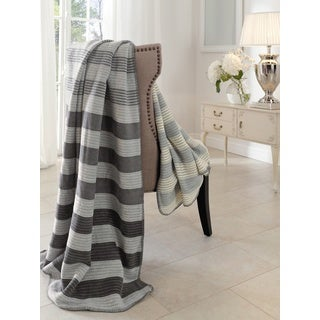 Sorrento Grey Stripe Variations Jacquard Throw
