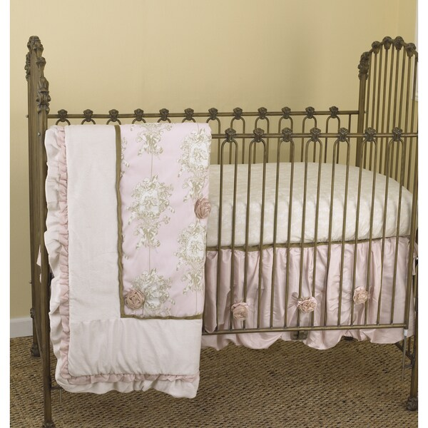 Cotton Tale Lollipops and Roses 3-piece Crib Bedding Set
