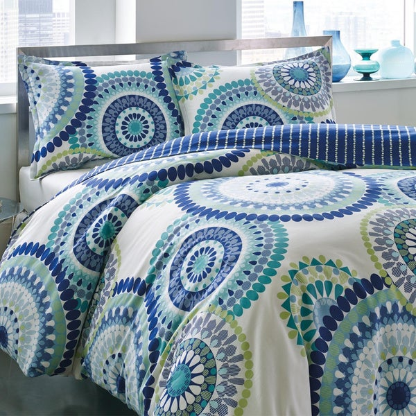 City Scene Radius 3-piece Cotton Duvet Cover Set (As Is Item)