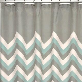 Brightly Chevron Microfiber Shower Curtain