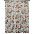 Ruby Floral Shower Curtain