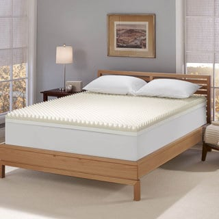 Serta Renewal 4-inch Dual-layer Memory Foam Mattress Topper