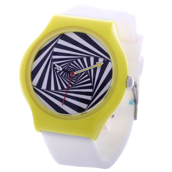 Vision Street Wear Tween White/ Yellow Skateboard Watch 12812803