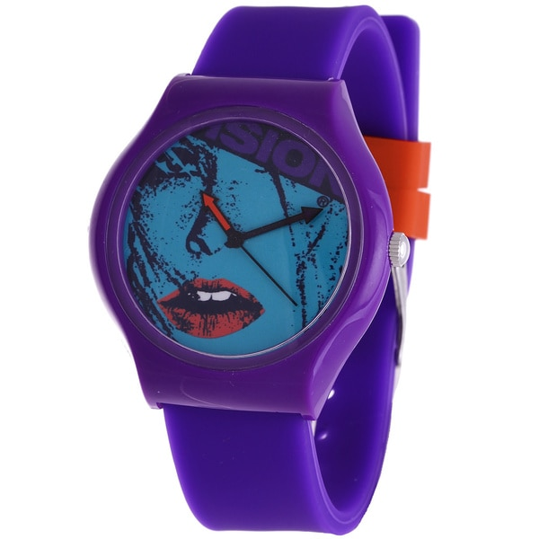 Vision Street Wear Tween 'Aggressor' Purple Skateboard Watch