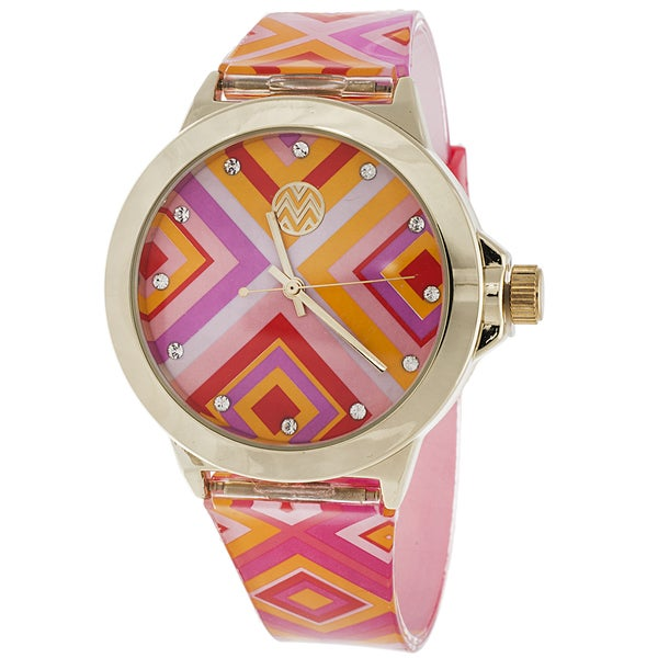 The Macbeth Collection Women's MBW012 Tory Blush Color Fashion Jelly Band Watch
