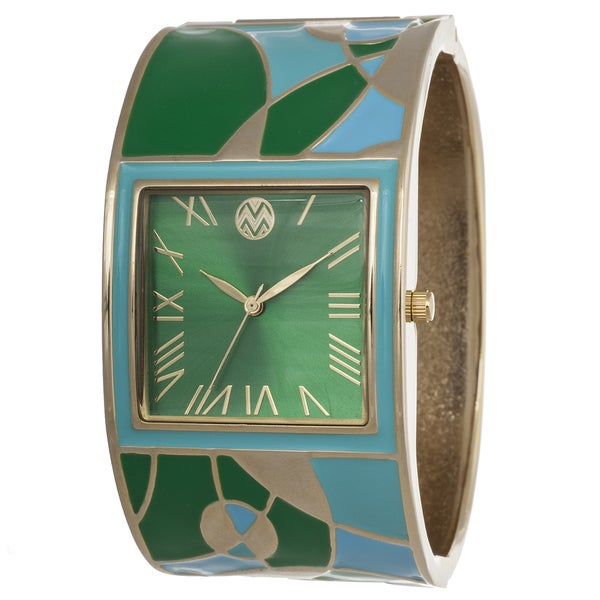 The Macbeth Collection Women's Multi-Colored Bangle Enamel Barbie Casablanca Watch