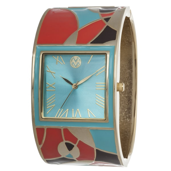 The Macbeth Collection Women's Multi-Colored Bangle Enamel Barbie Azure Watch