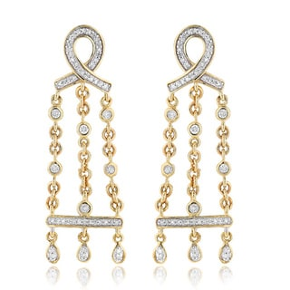 14k Yellow Gold 3/8ct TDW Diamond Chandelier Earrings (H-I, SI1-SI2)