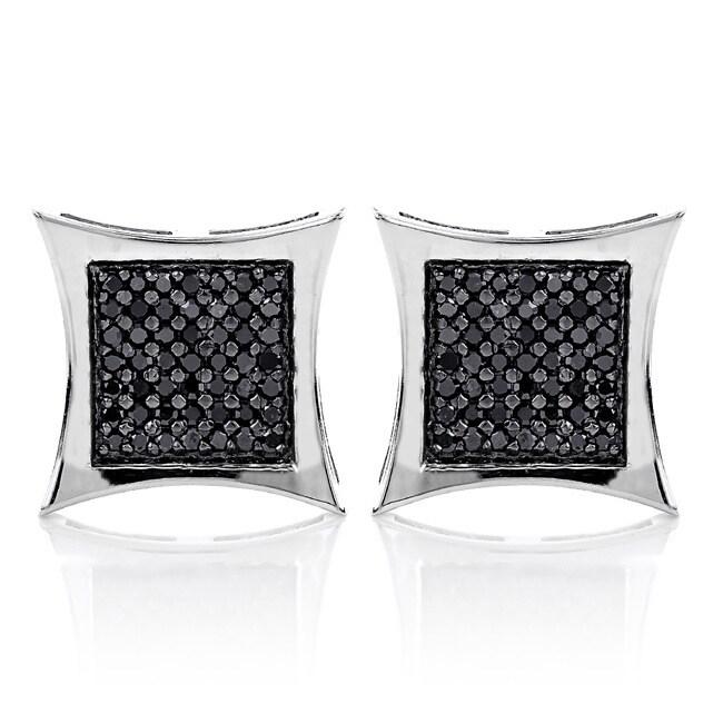 Luxurman 14k White Gold 1 3/5ct TDW Black Diamond Earrings at Sears.com