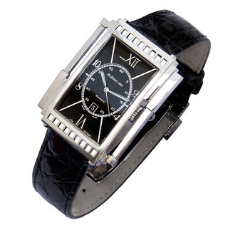 Xezo Men's 'Architect' Art-deco Style Swiss Automatic Watch