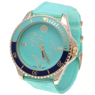 The Macbeth Collection Women's MBW028G-LG Pop Color Fashion Nylon Band Watch