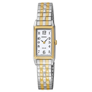 Seiko Women's 'Solar' Two-tone Stainless Steel Watch