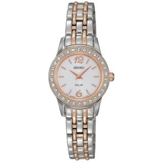Seiko Women's 'Solar' Two-tone Crystal Watch