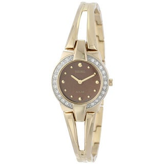 Seiko Women's 'Solar' Goldtone Crystal Watch