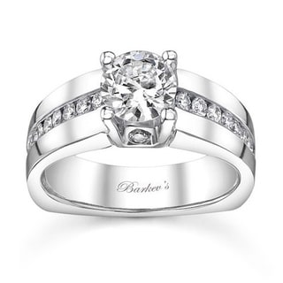 Barkev's Designer 14k White Gold 1 1/5ct TDW Diamond Engagement Ring (F-G, SI1-SI2)