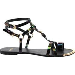 Women's Bronx Ask Away Black Oil Patent Leather