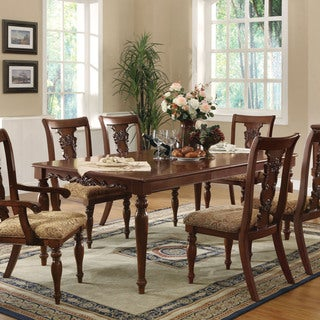 Traditional Cherry Brown Addison Dining Table