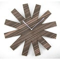 18-inch Espresso Wood Asterisk Clock