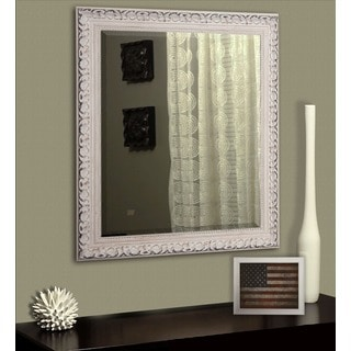 Rayne Distressed French Victorian White Wall Mirror