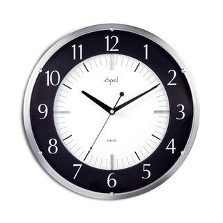 Round 14-inch Dome Glass Noiseless Clock