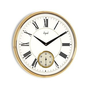 Traditional Gold-framed 30-inch Roman Numeral Wall Clock