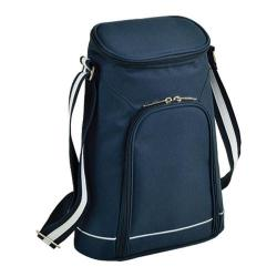 Picnic at Ascot Two Bottle Carrier & Cheese Set Bold Navy