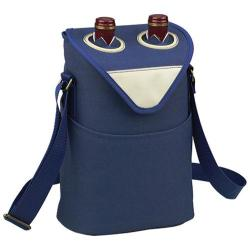Picnic at Ascot Two Bottle Tote 11in Aegean