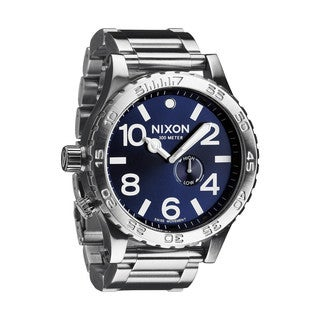 Nixon Men's '51-30 Tide' Blue Stainless Steel Watch